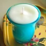 Soy Candle in Aqua Glass
