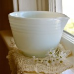 Milk Glass Batter Bowl