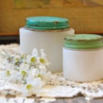 Vintage Milk Glass Jars