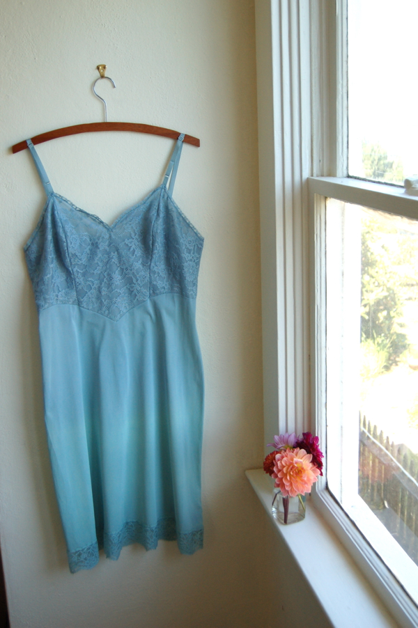 Vintage Full Slip in Sea Foam Ombre